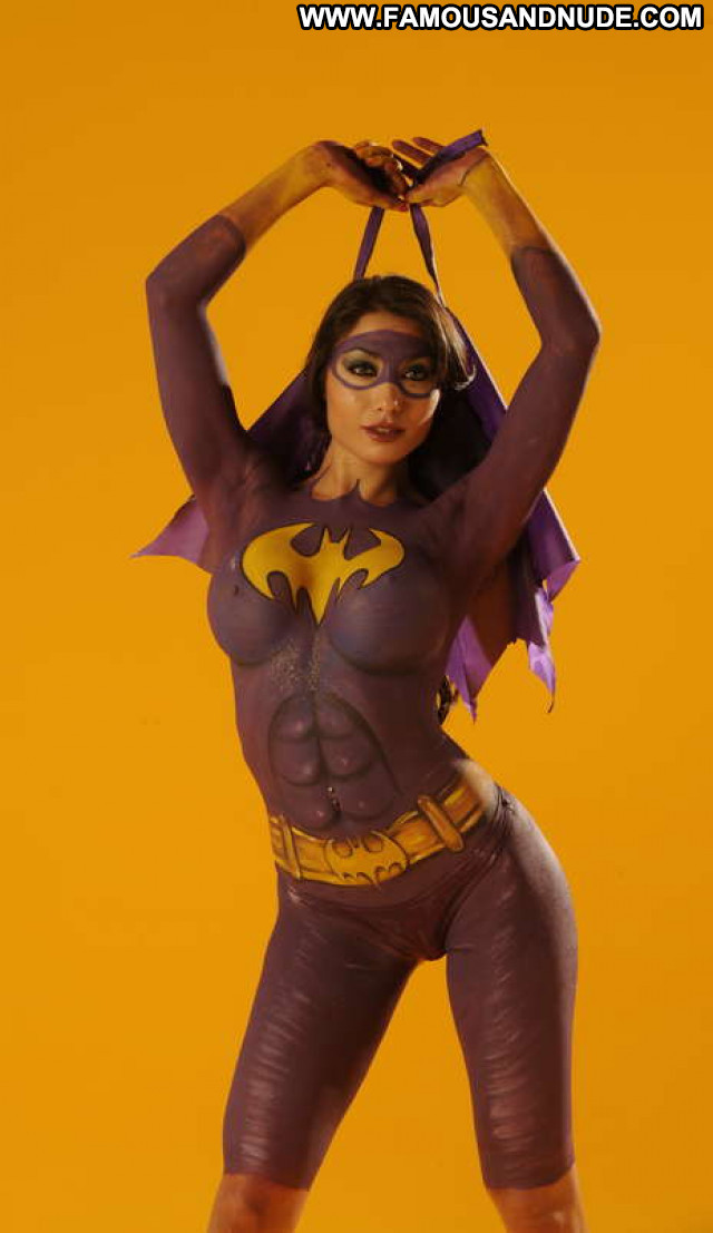 Girls No Source  Body Painting Beautiful Celebrity Posing Hot Hot Babe