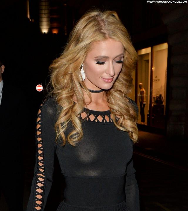 Paris Hilton No Source Beautiful Celebrity Babe Braless Candids See
