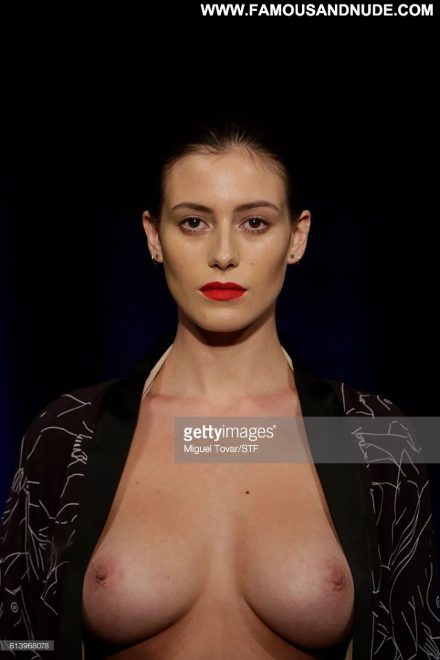 Alejandra Guilmant Mercedes Benz Fashion Week Boobs Posing Hot Big