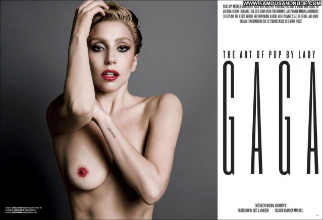 Lady Gaga V Magazine Magazine American Celebrity Posing Hot Beautiful