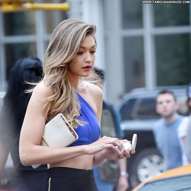 Gigi Hadid New York Photoshoot Celebrity New York Posing Hot Babe