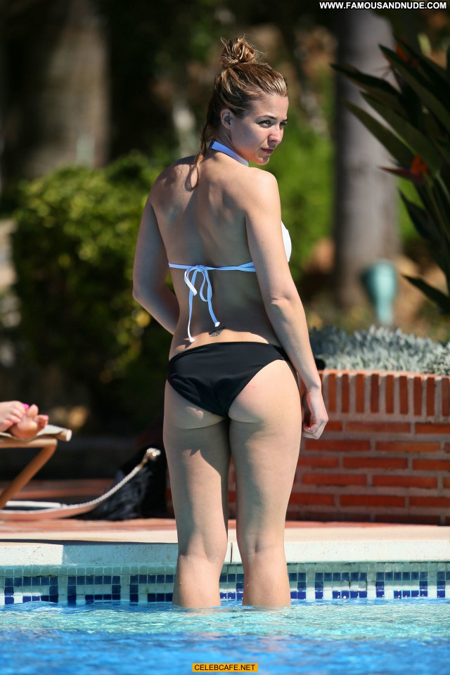 Gemma Atkinson No Source Beautiful Poolside Celebrity Pool Bikini