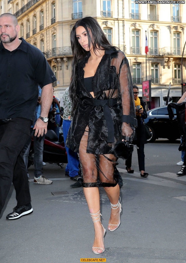 Kim Kardashian No Source  Posing Hot Paris Celebrity Ass Beautiful