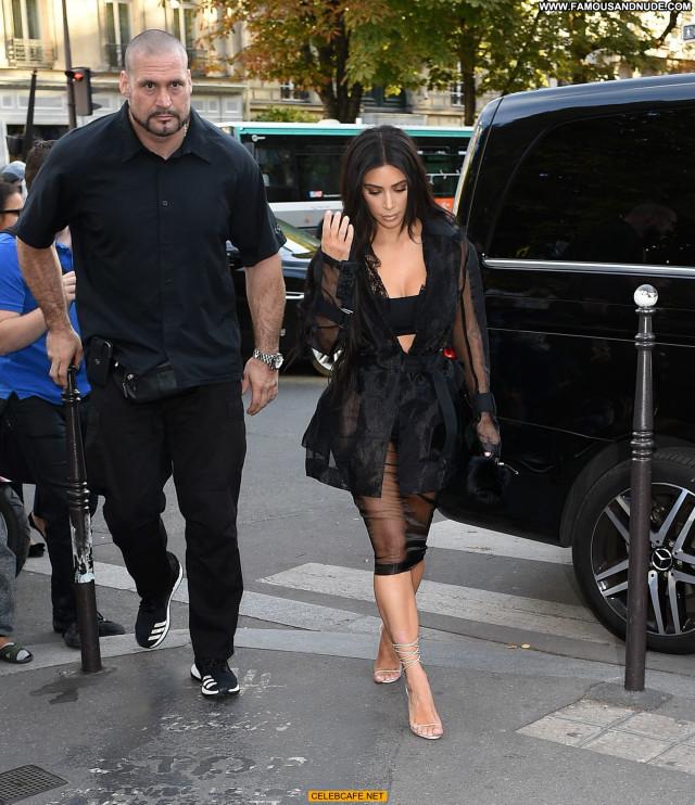 Kim Kardashian No Source Celebrity Babe Beautiful Ass Posing Hot Paris