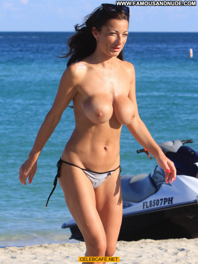 Priscilla Salerno Miami Beach Topless Celebrity Posing Hot Toples
