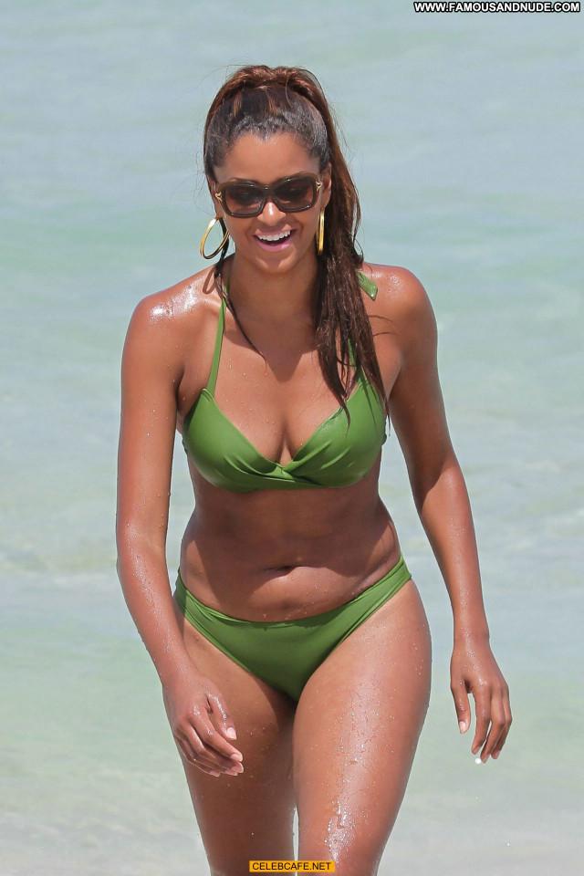 Claudia Jordan Miami Beach Celebrity Posing Hot Beach Babe Jordan