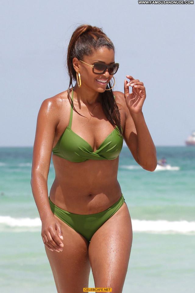 Claudia Jordan Miami Beach Beautiful Bikini Babe Beach Posing Hot