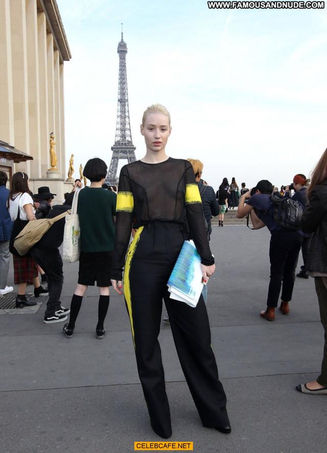 Iggy Azalea Fashion Show Fashion Posing Hot Paris Beautiful See