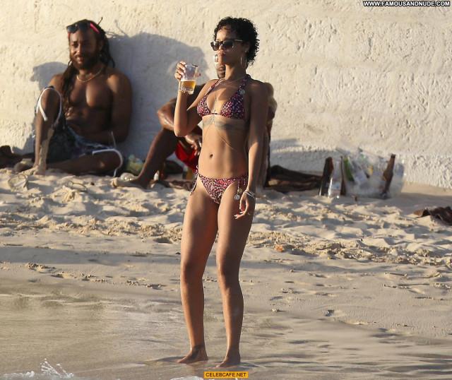 Rihanna No Source Posing Hot Bikini Candid Celebrity Babe Beautiful