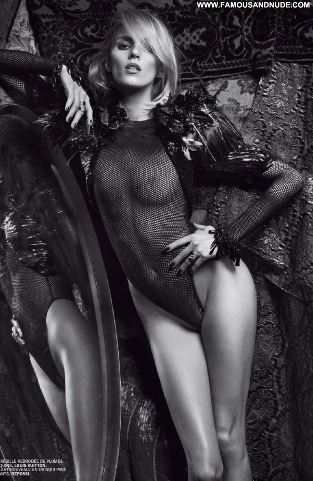 Anja Rubik French Magazine Model Underwear Nude Ass See Through