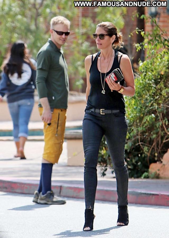 Cindy Crawford Babe Beautiful Celebrity Pants Malibu Posing Hot