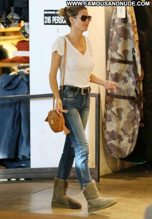 Heidi Klum West Hollywood Shopping Babe Paparazzi Posing Hot
