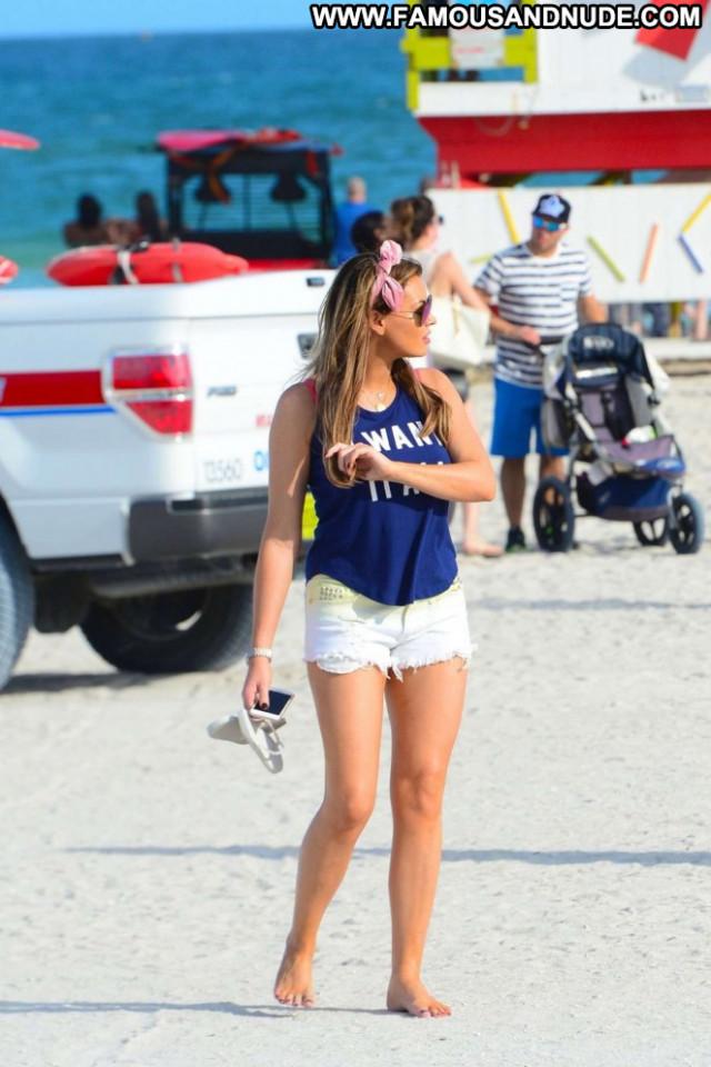 Jessica Wright Miami Beach Paparazzi Posing Hot Celebrity Babe Beach