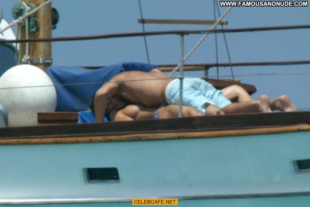 Manuela Arcuri No Source  Toples Babe Yacht Posing Hot Beautiful