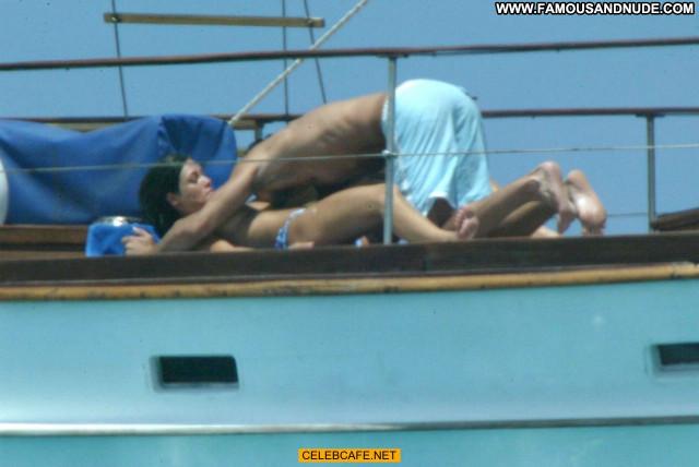 Manuela Arcuri No Source Toples Posing Hot Yacht Celebrity Babe