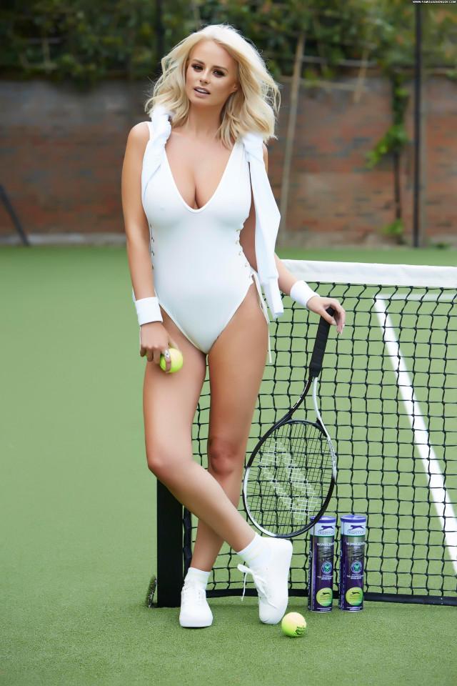 Rhian Sugden No Source Posing Hot Bus Photoshoot Glamour Big Tits