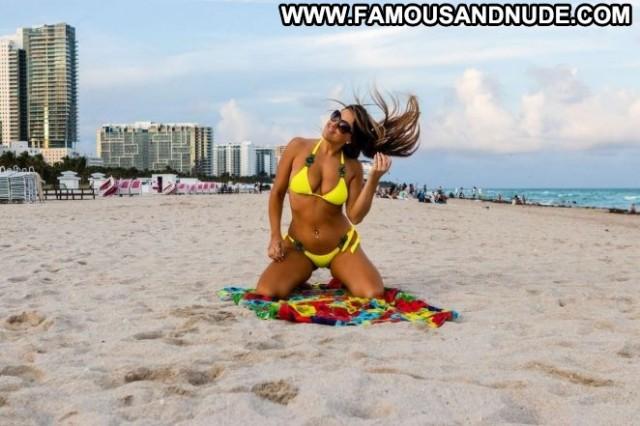 Claudia Romani South Beach Beach Celebrity Paparazzi Babe Beautiful