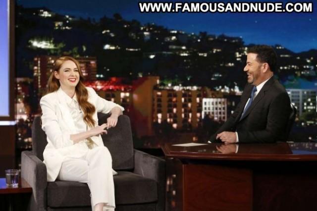 Karen Gillan Jimmy Kimmel Live Celebrity Beautiful Hollywood Babe