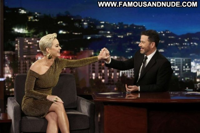 Katy Perry Jimmy Kimmel Live Celebrity Posing Hot Live Angel Los