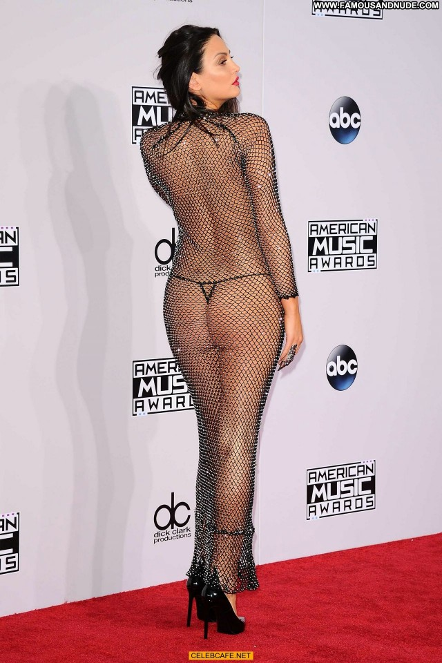 Bleona Qereti American Music Awards Beautiful See Through Posing Hot