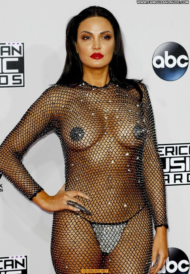 Bleona Qereti American Music Awards Posing Hot See Through Pasties