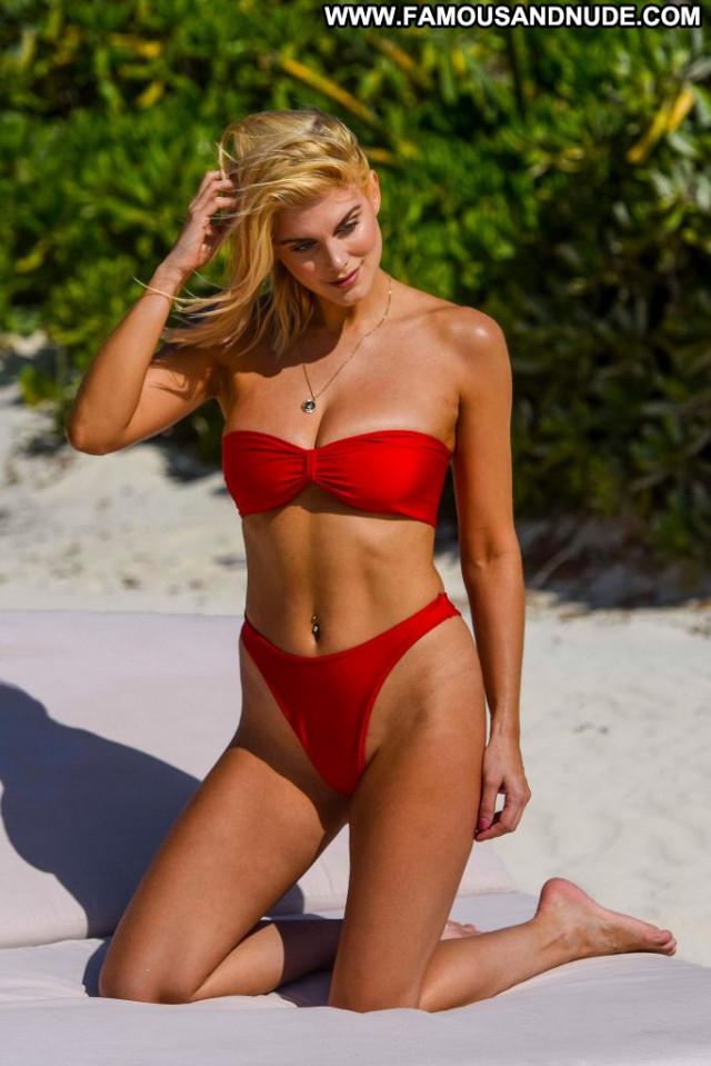 Ashley James No Source Candid Cake Posing Hot Bikini Beautiful